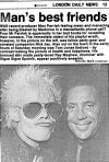 Tom Jones with Ray in the London Daily News